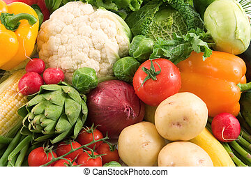 Vegetables - Fresh organic colorful vegetables Background