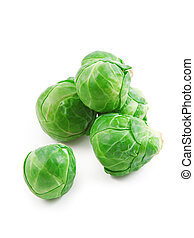 Brussels sprouts isolated on white