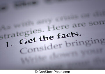 Get The Facts - get the facts term from a medical book
