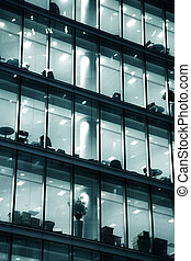 Business building in London - Glass multi-story building in...