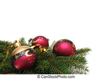 Red christmas bulbs