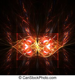 Abstract butterfly - Fractal abstract of a heart shaped...