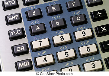 Programmers calculator with hexadecimal and logic functions...