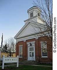 Town Hall - Brick town hall building in Williston, Vermont