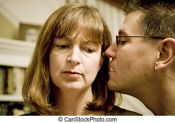 Intimate Secrets - Photo of an attractive man telling a...