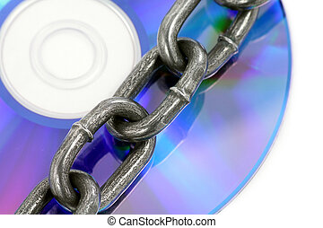 chain and cd,concept of copyright