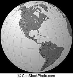 america - globe