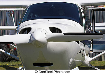 aeroplane - Close up of a single engine prop plane