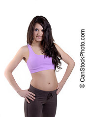 Workout - Attractive Young Woman Wearing Workout Clothes