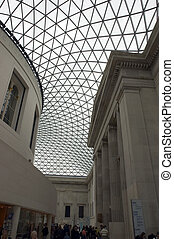 British Museum - Glass roof/ceiling at the entrance of the...