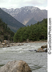 White water of Ganga - Ganga in the beginning in the...