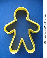 cookie cutter man - cookie cutter in the shape of a man