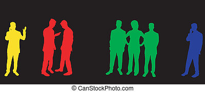 Silhouettes of business people - Buisness people silhouettes