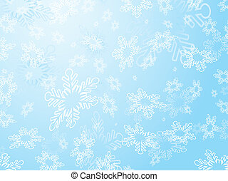 Snowflakes - Background of snowflakes