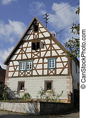 Half-Timbered House - A 17th century half-timbered house in...