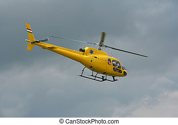 Intervention helicopter - Flying helicopter