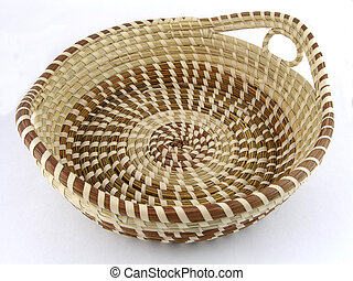 Seagrass basket from Charleston, South Carolina