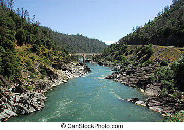 American River - South fork of the American River in the...