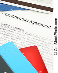 credit card agreement - a credit card financing agreement...