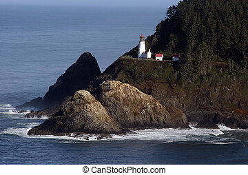 Oregon Lighthouse. - Old lighthouse on Oregon\\\'s Pacific...