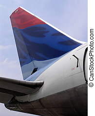 Jet plane Tail - Commercial Jet plane Tail