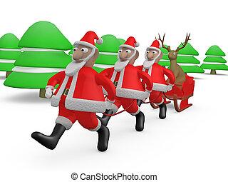 Weird Christmas #2 - Computer generated image - Weird...