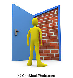 Blocked Door #2 - Computer generated image - Blocked Door...