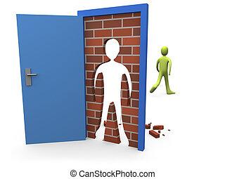 Blocked Door #3 - Computer generated image - Blocked Door...