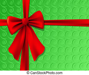 Christmas Present With Bow - Christmas present with red bow....