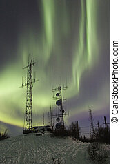 Double aurora band and two antennas - Two antennas and two...