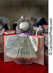 Musical Angel - An angel decoration made from a church song...