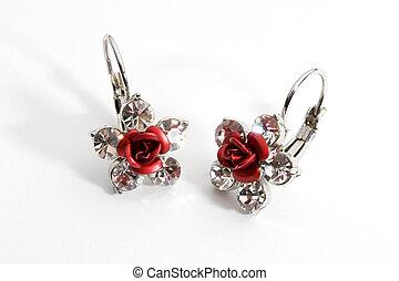 Earrings - Photo of a pair of earrings