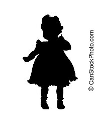 Cute baby girl - Clipping of cute baby girl in silhouette...