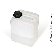 Plastic bottle - White plastic bottle w clipping path