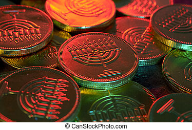 Gelt - Photo of Chanukah Gelt Candy Coins - Chanukah Related...