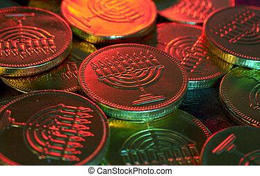 Gelt - Photo of Chanukah Gelt (Candy Coins) - Chanukah...