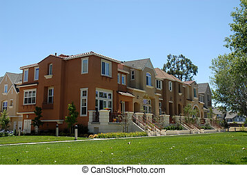 Townhouses - Townhouse row, Santa Clara, California
