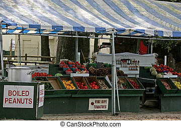 Farmers Market - Vegetable Stand at a small town farmers...