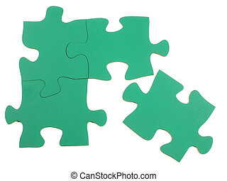 Puzzle - Blank jigsaw puzzle pieces