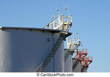 petróleo, almacenamiento, tanques