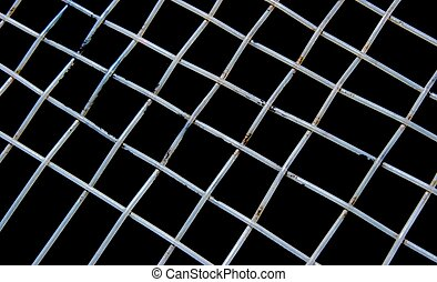 Grid - Abstract background of rectangles formed by strings