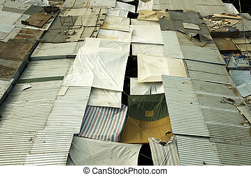 poverty houses - special photo fx,phocus point on the center...