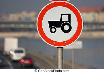 Tractor - Traffic sign, no entry for tractors