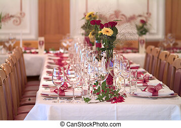 table decoration - ceremonial decorated dinner table