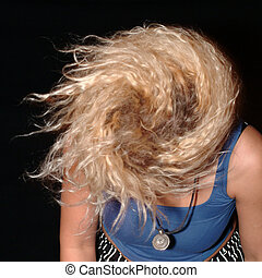 twister - blond woman with long hair