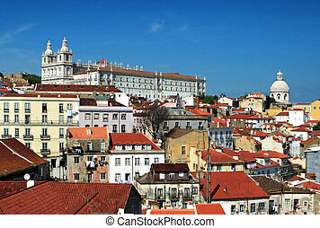 Alfama - Skyline of the Alfama, historical part of Lisbon