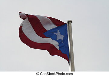 Puerto Rico Flag - A Puerto Rico Flag flying
