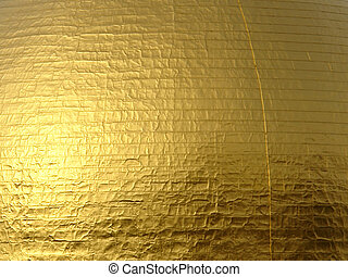 Gold Leaf Background - Close up of golden dome showing the...
