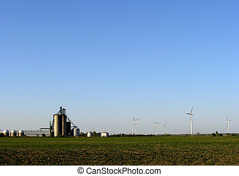 Clean Energy - Ontario Canada farm supplied with clean...