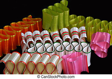 Christmas candy - Beautiful & colorful ribbon Christmas...